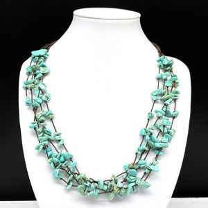 Premier Designs Turquoise Stone Chips Necklace
